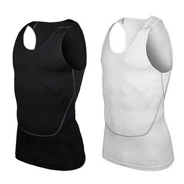 Men Under Shirt Skin Body Compression Elastic Base Layer Tank Top Vest Sportwear