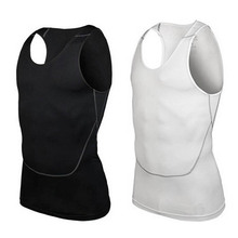 Men Under Shirt Skin Body Compression Elastic Base Layer Tank Top