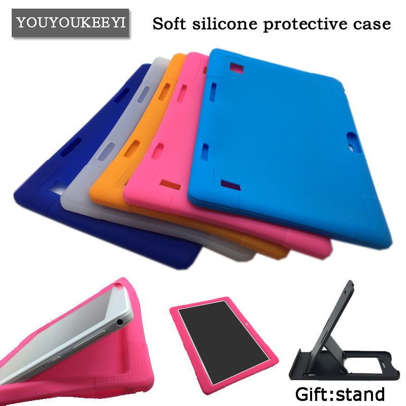 Kids Safe Shockproof Silicone cover case For BDF 3G Phone Call 10inch tablet pc Soft silicone protective case protective matte silicone case for iphone 5 5s dark blue white