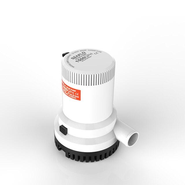 seaflo pompe de cale pour bateaux et yachts 1500 gph 12 v sous marine lectrique moteur solaire. Black Bedroom Furniture Sets. Home Design Ideas