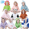 Summer the new children's bathrobe cartoon cute baby cotton towel bathrobe