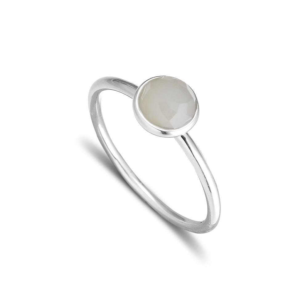 CKK 925 Sterling Silber June Droplet, graue Mondsteinringe für Frauen Original European Style Jewelry