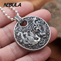 925 Sterling Silver Vintage Openwork Dragon and Phoenix Pendant Necklace Jewelry For Men Or Wonmen Fashion Punk