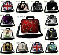 Fashion Style Laptop Shoulder Bag Case Cover + Pocket Handle For 10.1 11.6 12 13 13.3 14 15 15.6 17 Inch Laptop PC
