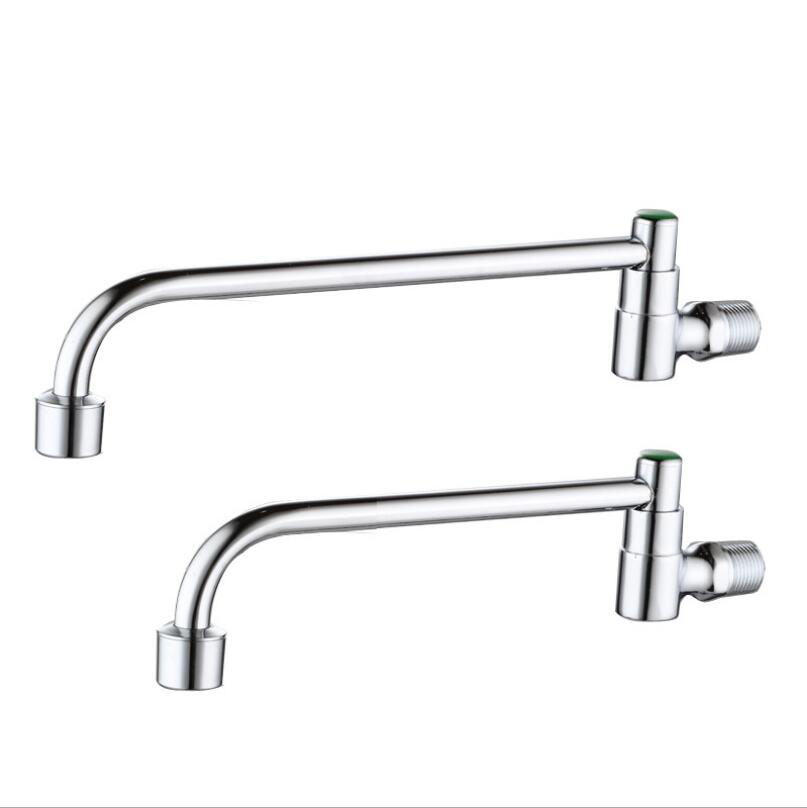 US $11.69 15% OFF|3 Specifications G1/2 Brass Semi automatic Swing Faucet  Restaurant Hotel Kitchen Stove Faucet Single Cold Wall Style Tap-in Kitchen  ...