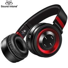 Som Entoar P6 Fones De Ouvido Sem Fio Bluetooth com Mic o Apoio TF Cartão FM Rádio Estéreo Bluetooth Fone de Ouvido Para iPhone Xiaomi MP3