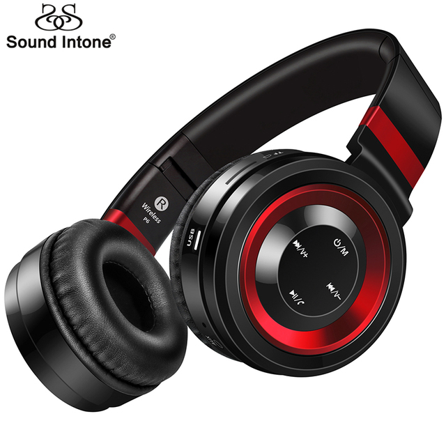 Sound Intone P6 Wireless Headsets Bluetooth Headphones with Mic Support  TF Card FM Radio for iPhone Samsung Xiaomi Huawei