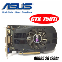 Asus GTX 750TI OC 2GB GTX750TI GTX 750TI 750 2G D5 DDR5 128 Bit PC Desktop Graphics Cards PCI Express 3.0 computer video
