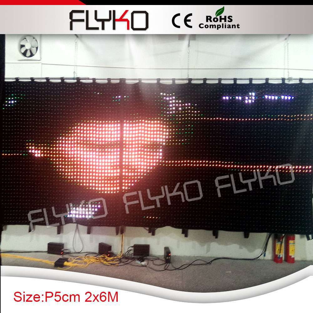 New product Led dj light curtain display screen video cloth