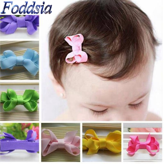 81598c8b7866d 20PCS lot Kids Hair Accessories Girls Hair Clips Small Ribbon Whole Wrapped  Safety Boutique Bow Hairpins Barrettes Headwear H01