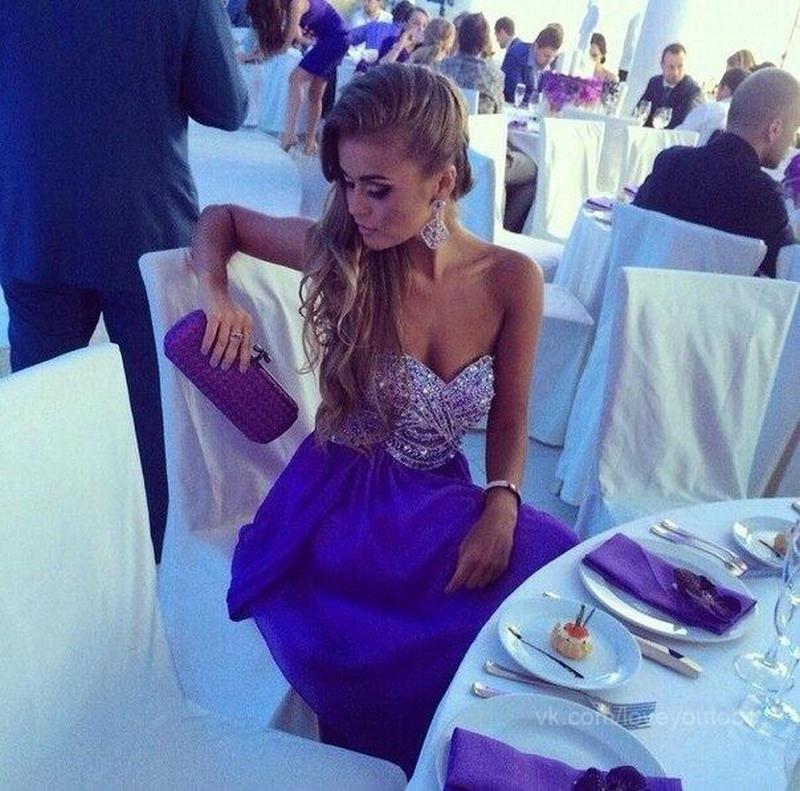 Atractivo Reales Vestidos De Cóctel Azul Embellecimiento - Vestido ...
