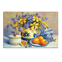 Orchid Tea Machine 75x50 Cross Stitch Diy Full Diamond Drawing Square Supplies Embroidered Paste Mosaic Home