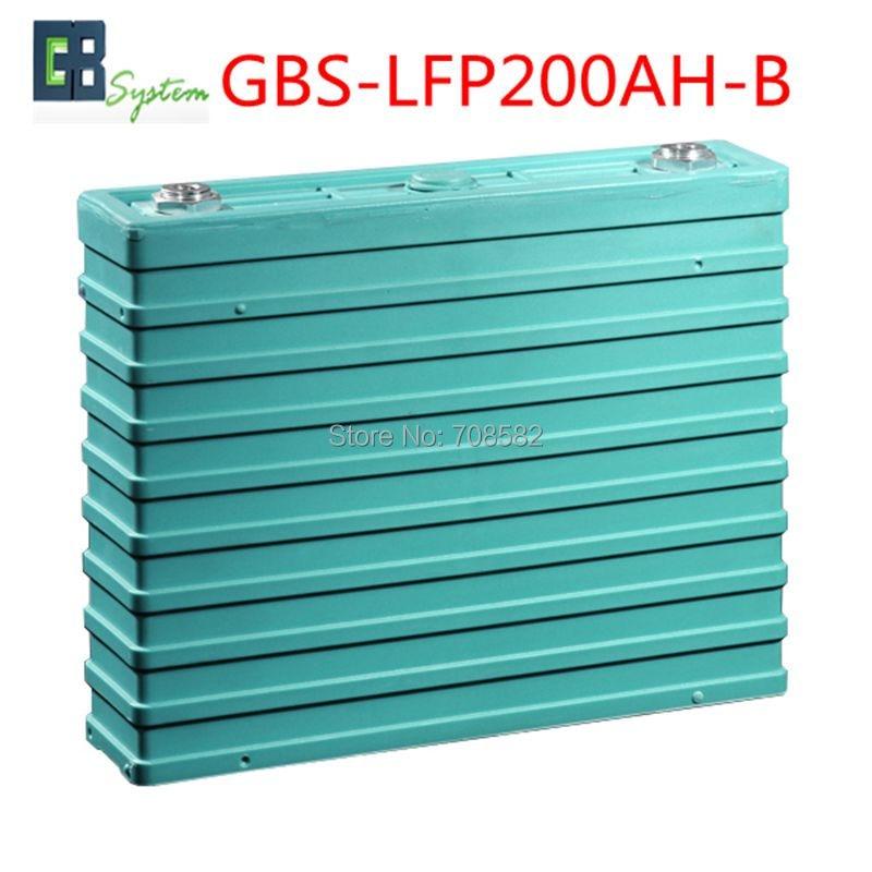 1pcs GBS 3.2V200AH-B LIFEPO4 Battery for Electric Car/ Solar/UPS/energy storage etc GBS-LFP200AH-B 1pcs gbs lifepo4 battery 3 2v400ah for electric car solar ups energy storage etc