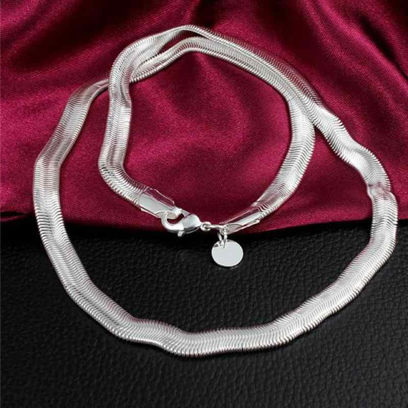 Sterling silver biżuteria kobiety naszyjnik oświadczenie collier biżuteria collares łańcuch węża mężczyzn 925 akcesoria do prezentów hurtownia chiny