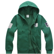 Best Sellers Anime Attack on Titan Cosplay Costumes Hoodie Green Black Scouting Legion Hooded Sweater for Unisex цены онлайн