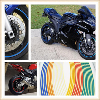 Strips Motorcycle Wheel Sticker Reflective Decals Rim Tape Bike Car Styling For SUZUKI TL1000S 600 Kawasaki ZX7R ZX7RR ZX9 image