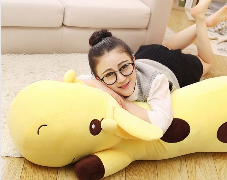 huge lovely plush yellow giraffe toy big lying giraffe doll gift about 130cm 2697huge lovely plush yellow giraffe toy big lying giraffe doll gift about 130cm 2697