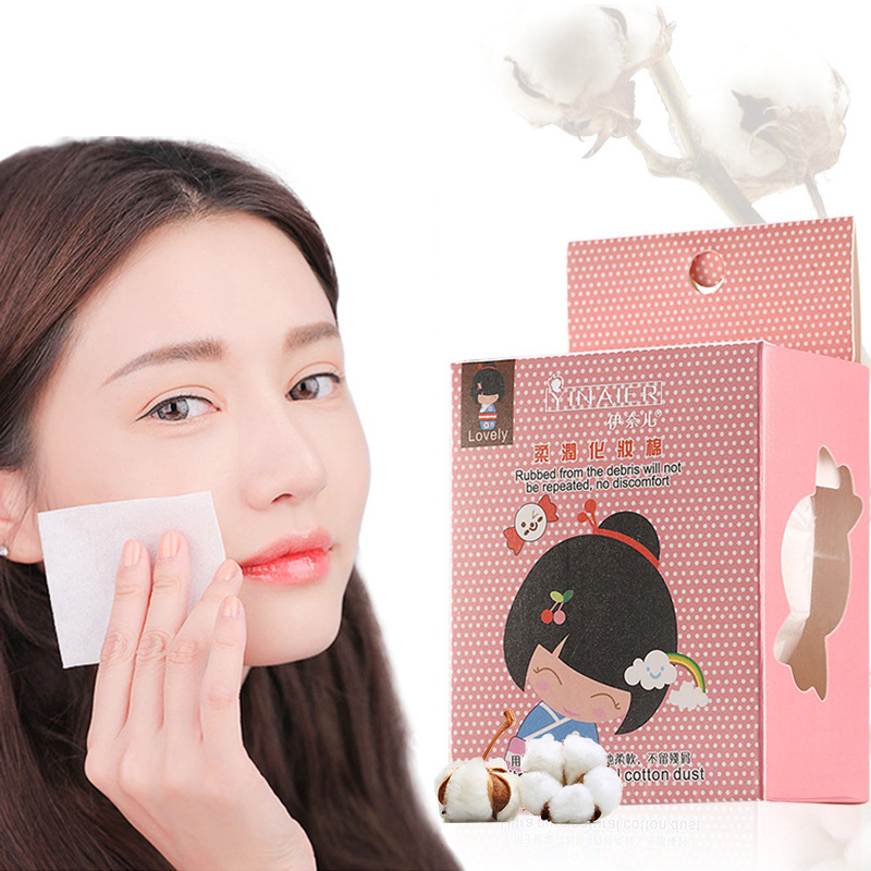 100Pcs/Set Disposable Makeup Cotton Wipes Soft Makeup Remover Cotton Pads Ultrathin Facial Cleansing Paper Wipe Make Up Tool