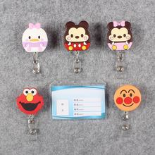 Badge Scroll Nurse Reel Mouse Transparent PVC Character Scalable Colors Little Cat Girl Exhibition ID Plastic Card Holder