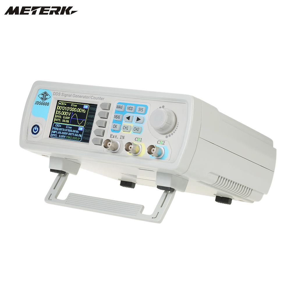 Digital Dual channel DDS Function Signal Generator Arbitrary Waveform Pulse 1Hz 100MHz Frequency Meter 200MSa s