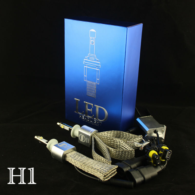ФОТО Ossen H1 LED Headlights 80w 9600lm 6000K Xenon White Headlight H3 H7 H8 H9 H11 HB3 9005 H10HB4 9006 H13 9004 9007 Conversion Kit