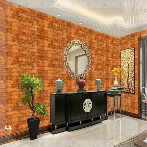 451000cm Red Brick Wallpaper Self Adhesive Pvc Wall Paper Vintage