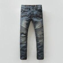 2016 разорвал отверстия джинсовые мужские джинсы марка воды мыть брюки джинсы брюки мужская мода молодежь