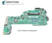 NOKOTION For Toshiba Satellite L50 L50 C Laptop Motherboard A000388620 DA0BLQMB6E0 MAIN BOARD I5 5200U CPU 930M graphics