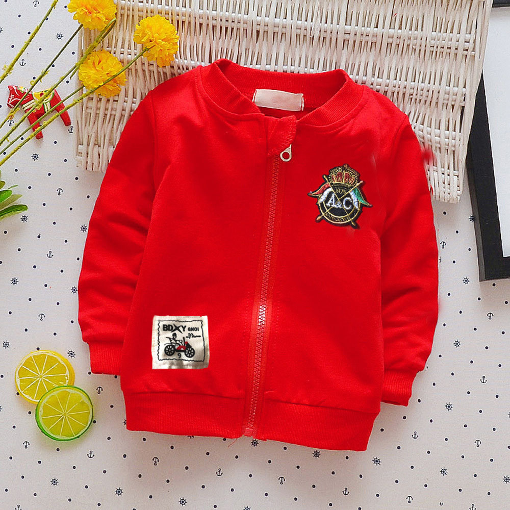 Outfits Baby-Girls Coat Jacket Long-Sleeve Toddler Winter Cartoon Letter Tops Boys Kids