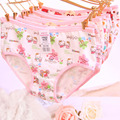 [Quecoo] 2016 Girl Series cotton big yards package hip cartoon panties, underwear women sexy underwear cute Women's panties