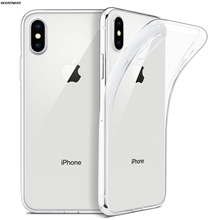 For iPhone X Case, HOUSTMUST Slim Clear Soft TPU Cover Support Wireless Charging for Apple 5.8 /iPhone 10 6 7 8 XSmax