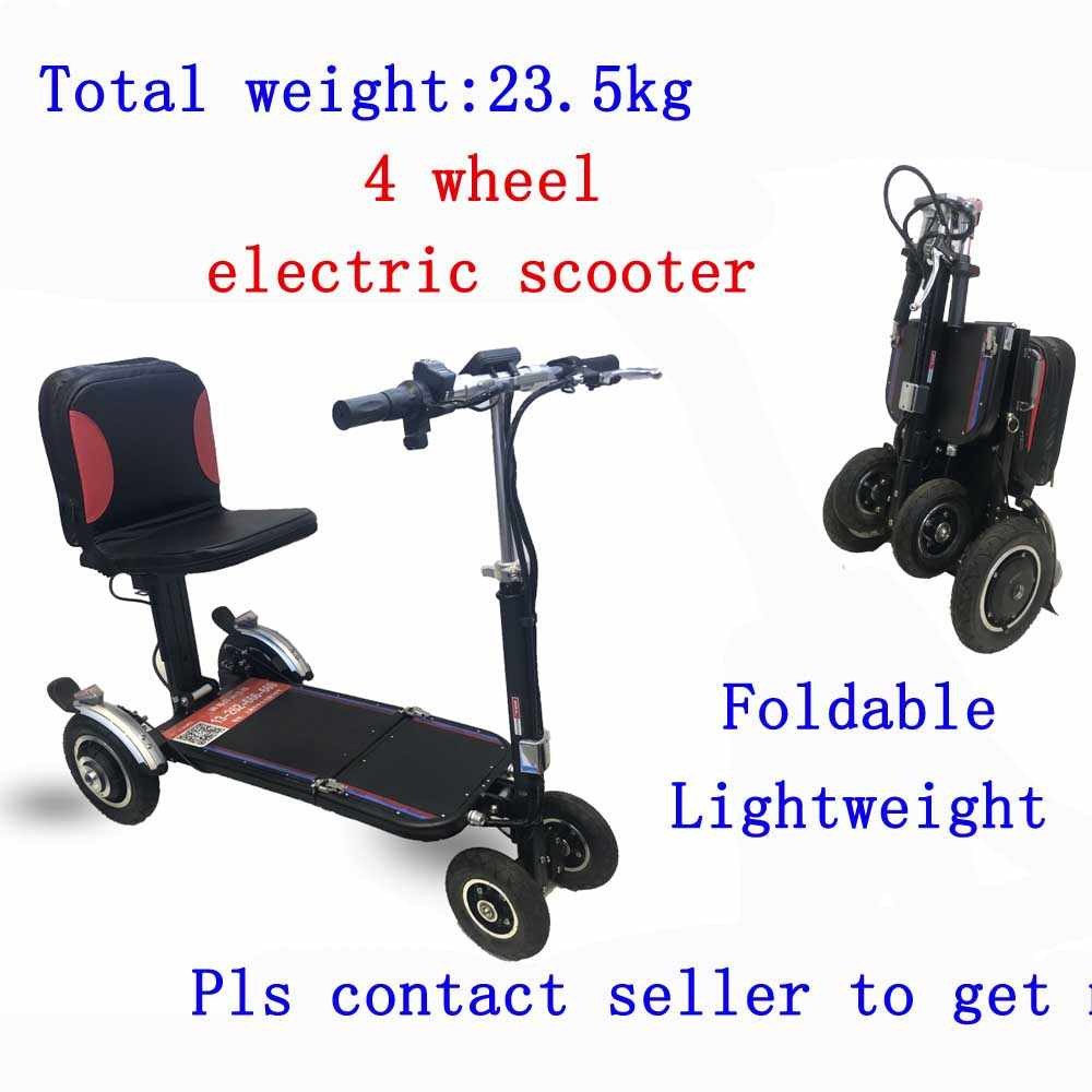 Light step elderly scooter four-wheel electric scooter folding portable elderly disabled power car smart scooter