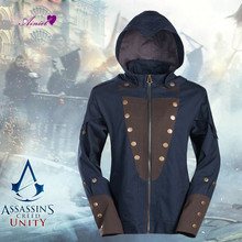 Unique Design Male Cosplay Jacket Assassin's Creed Unity Arnold Victor Dorian Cosplay Hoodie Revolution Sweatshirts CS175270