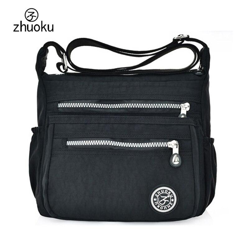 Frauen Messenger Bags Nylon Canta Schultertaschen Handtaschen Bekannte Marken Designer Crossbody Taschen Weibliche Bolsa sac ein Haupt ZK735