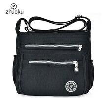 Для женщин Курьерские сумки нейлон Канта сумки на плечо Сумки известные бренды дизайнер Crossbody Сумки Женский Bolsa sac основной ZK735