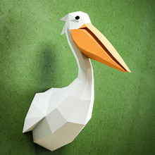 30min Complete DIY 3D Pelican Paper Sculpture Papercraft Puzzle Toy Educational Folding Model Christmas Gift Science