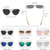 KINGSEVEN - Bamboo Cat Eye Sunglasses 2