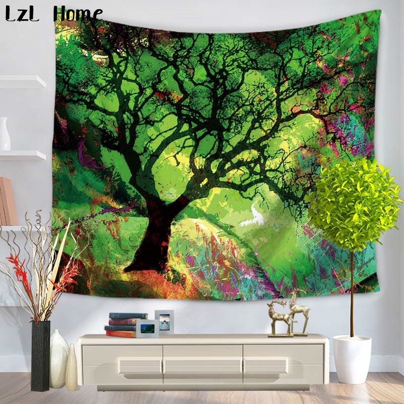 LzL Home Animal Tree Of Life Tapestry Psychedelic Magical Mysterious Tree Wall Hanging Tapestry Bedroom Livingroom Dorm Wall Art in Tapestry from Home Garden