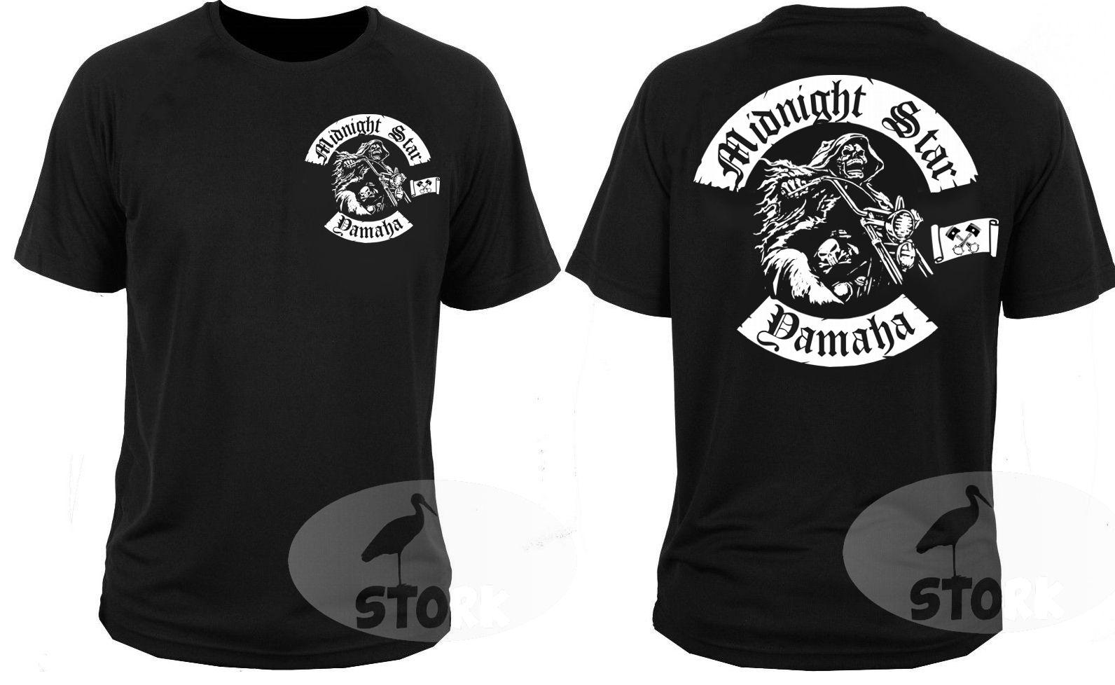 100% Coton T Chemise pour Hommes de T-shirt T-shirt Midnight Star Cruiser Chopper Moto Rockers Top T-shirts