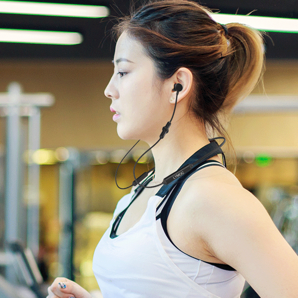 LYMOC Q5 Bluetooth Earphones Sport Wireless Headphone 48Hrs Talktime Neckband Stereo Headsets Running for iPhone Samsung Huawei
