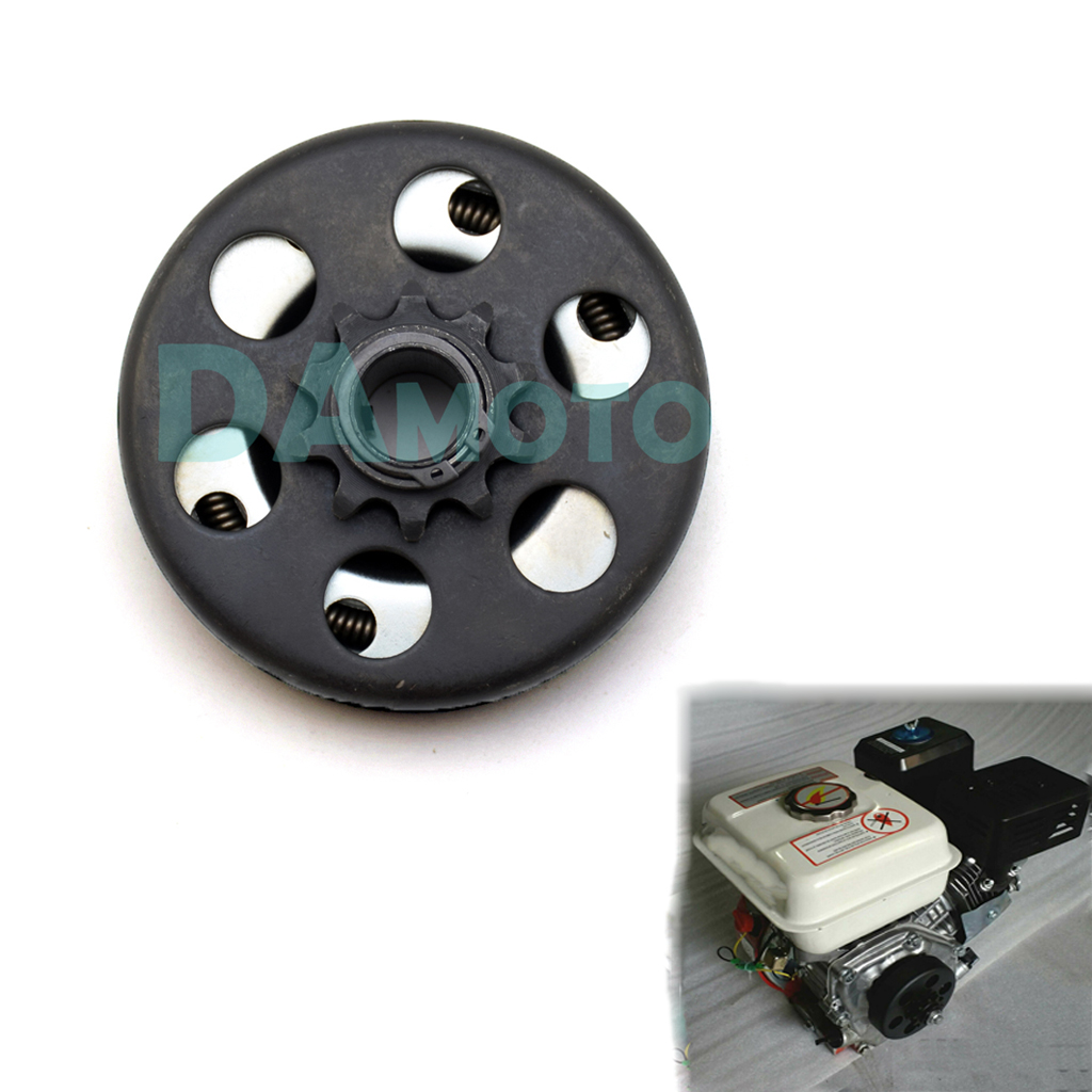Go-kart Clutch 10 Teeth with 40/41/420 Chain Durable Centrifugal Clutch pad 3/4