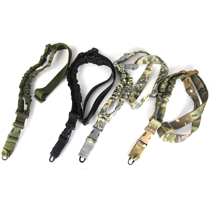 Tactical One PoiRifle Gun Sling Strap System Hunting Adjustable Nylon Single Point Rifle Strap Free Shipping-in Hunting Gun Accessories from Sports & Entertainment