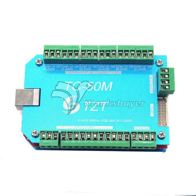 TC50M 50 КГц CNC USB MACH3 Motion Control Board Водитель 6 Оси Контроллер Карты для Гравировальный Станок