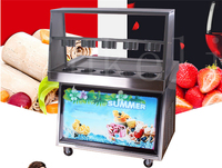18 Free ship CE maquina de helados flat square pan freezing ice cream frying ice cream machine fried ice cream roll machine