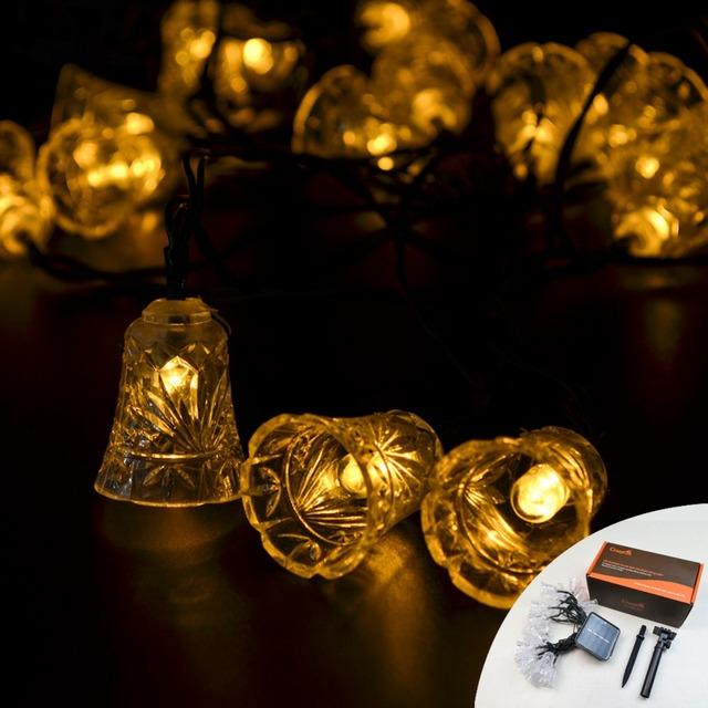 CrazyFire Solar Luz de La Lámpara 5 M 20 LED Cadena Fiesta de Navidad Al Aire Libre Jardín Decoración De Navidad Led Luces de Tira Caliente blanco