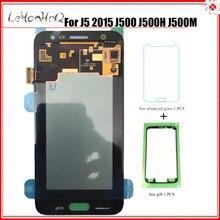 テストスーパー Amoled サムスンギャラクシー J5 2015 J500 J500F J500M ディスプレイタッチスクリーンデジタイザアセンブリ J500 液晶交換