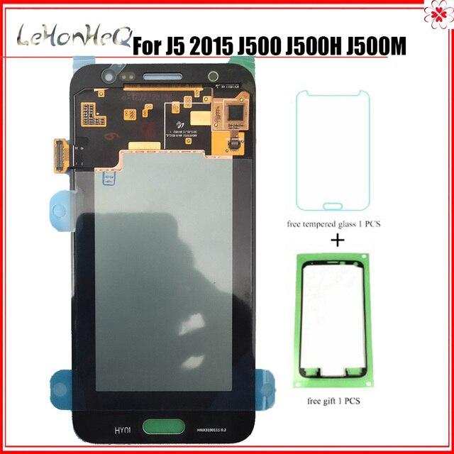Test Süper Amoled Samsung Galaxy J5 2015 J500 J500F J500M Ekran dokunmatik ekranlı sayısallaştırıcı grup J500 LCD Değiştirme