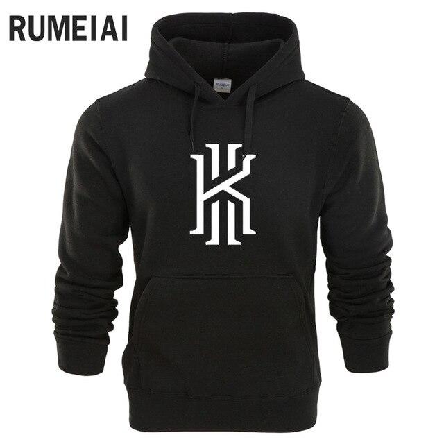 Rumeiai 2018 Фирменная новинка мода Кирие Ирвинг Для мужчин спортивной печати Для мужчин Толстовки пуловер хип-хоп Для мужчин S спортивный костюм толстовки