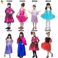 Yeni ANNA DONDURULMUŞ KRALIÇE Prenses Elbiseler Çocuk Kız Cadılar Bayramı Parti Noel Cosplay Elbise Kostüm Çocuk Kız Giyim