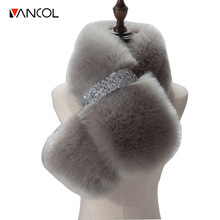 Vancol 2016 Brand Luxury Large Size 95*15CM Scarf Women Winter Women Scarf Female Neck Warmer Faux Fox Fur Scarf